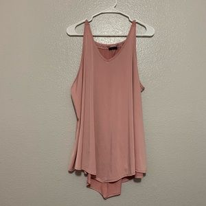First Love Dusty Pink Sleeveless Tank Top